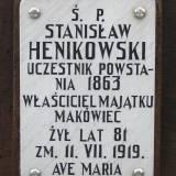 Grób Stanisława Henikowskiego, weterana z 1863 r.