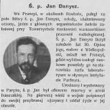 Nekrolog J.K. Danysza.