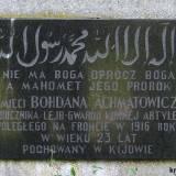 Grób symboliczny por. Bohdana Achmatowicza