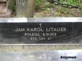 Warszawa. Grób Jana Karola Litauera.