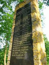 Różynka, pomnik poległych 1914-18