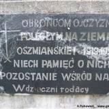 Tablica znajdująca się na pomniku.