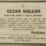 Nekrolog kpt. Cezarego Hallera.