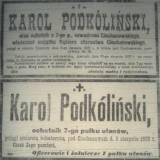 """Nekrolog z """"Kuriera Warszawskiego""""."""