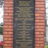 Tablica na mogile zbiorowej ułanów 115 pułku.