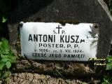 Ś. + P. ANTONI KUSZA / POSTER. P.P. / UR. 1896 R. / ZM. 3.VII.1924 R. / CZEŚĆ...