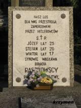 Raciąż. Grób braci Raszkowskich.