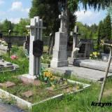 Wola Kiełpińska. Mogiła 2 saperów poległych w 1945 r.
